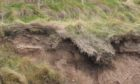 Parts of the Arbroath cliff path are badly eroded.