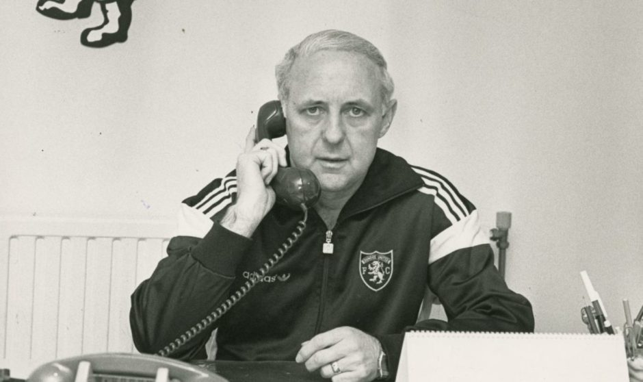 Jim McLean pictured in his office in 1988.