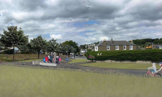 The design of the walkway and cycle path at Castle Green Park, Broughty Ferry