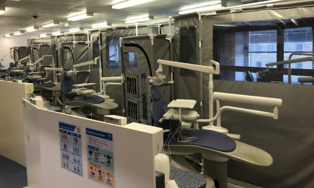 Units fitted in Dundee Dental Hospital.