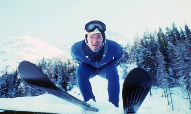 Eddie 'The Eagle' Edwards in 1986.