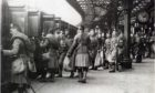 Black Watch soldiers leaving Dundee Station to head off to the First World War.