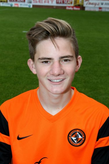 Scott Reekie during his Dundee United days.