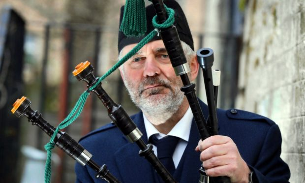 Jimmy Black of Dundee City Pipe Band.