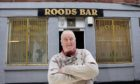 Jim Glendinning outside the Roods Bar in Kirriemuir.
