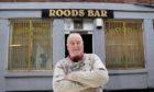 Jim Glendinning outside the Roods Bar in Kirriemuir.