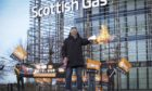 Staff picket outside Scottish Gas (Centrica) office