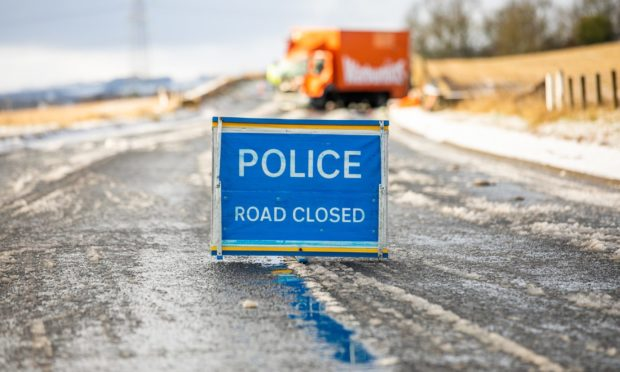 The route was closed while police dealt with the accident.