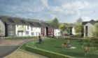 An artist's impression of what the first new houses will look like.