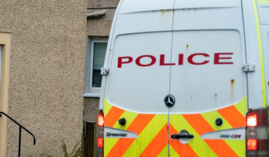 Police activity in Kinglassie.