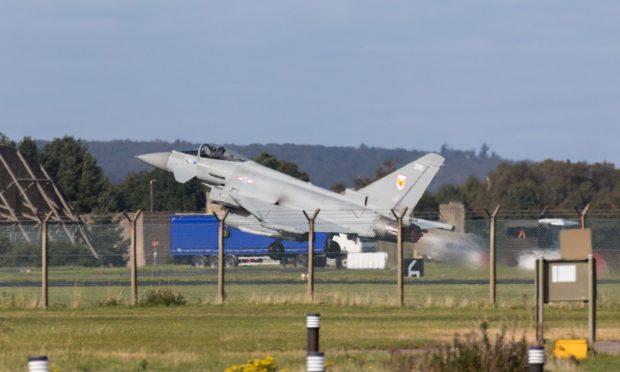 An RAF Typhoon.
