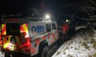 Ochils Mountain Rescue Team joined police and paramedics ot rescue the injured walker.