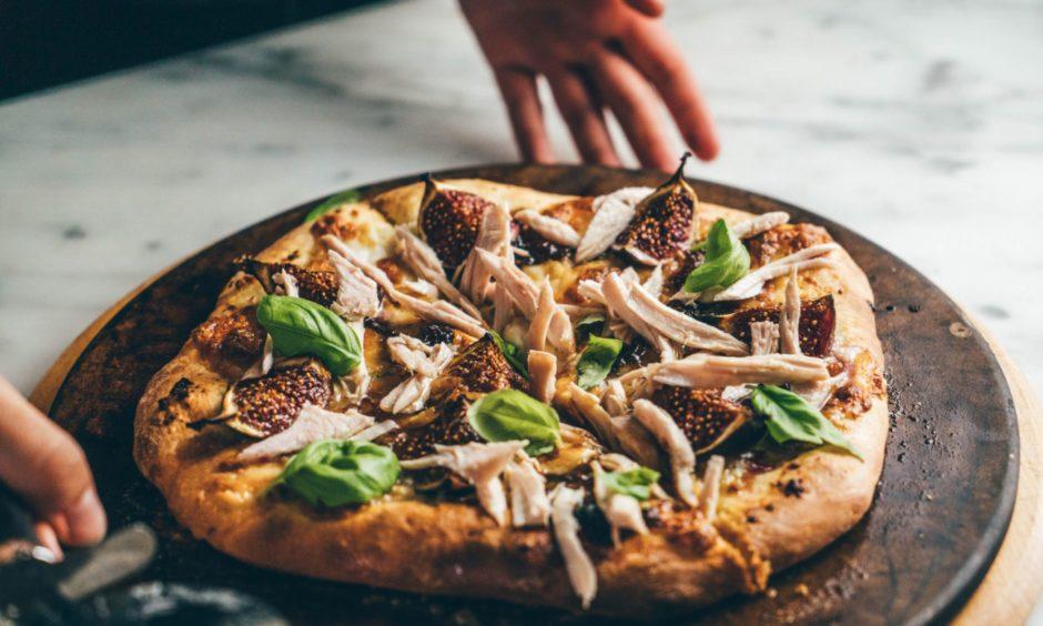 Turkey pizza.