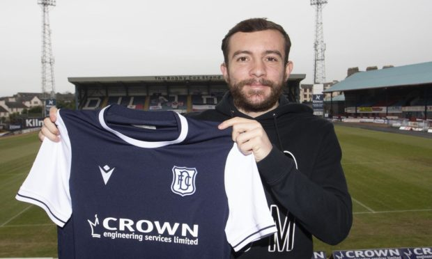 26/01/2021; Kilmac Stadium , Dundee ; Paul McMullan pictured at the Kilmac Stadium, Dundee, after joining Dundee on a loan deal from Dundee United