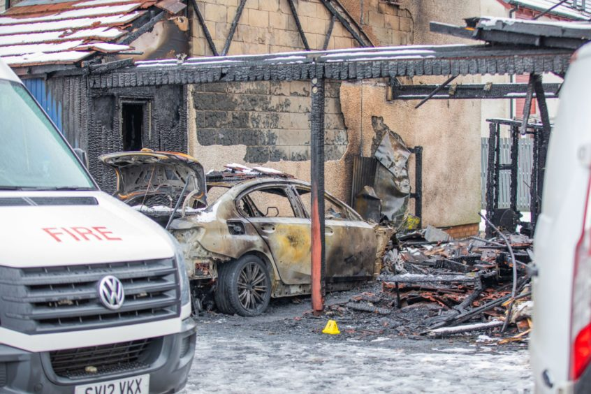 The property was gutted in the blaze.