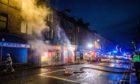 Crews attend the fire in Scott Street on Jan 10