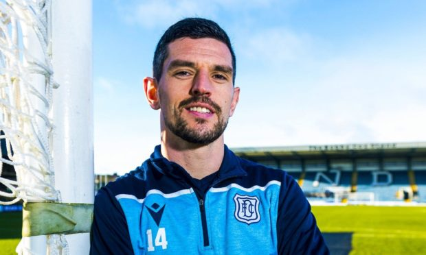 DUNDEE, SCOTLAND - JANUARY 23: Dundee's Graham Dorrans fresh from signing a new 18-month contract with the club during Dundee Media Access at Dens Park on 23 January, 2020 in Dundee, Scotland. (Photo by Mark Scates / SNS Group)