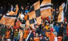 DUNDEE, SCOTLAND - FEBRUARY 1: Dundee United's fans during a Ladbrokes Championship match between Dundee United and Arbroath, at Tannadice, on February 1, 2020, in Dundee, Scotland. (Photo by Euan Cherry / SNS Group)