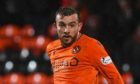 DUNDEE, SCOTLAND - FEBRUARY 21: Paul McMullan in action for Dundee United during the Ladbrokes Championship match between Dundee United and Inverness Caledonian Thistle at the Tannadice Park on February 21, 2020, in Dundee, Scotland. (Photo by Craig Foy / SNS Group)