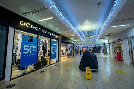 Dorothy Perkins and Burtons stores in Dunfermline's Kingsgate Mall