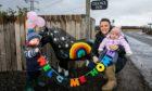 Tessa Sands, 29,  children Fergus and Elizabeth and Daisy