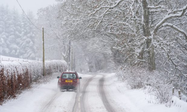 The A823 Glendevon Rd was scenic with the snowfall.