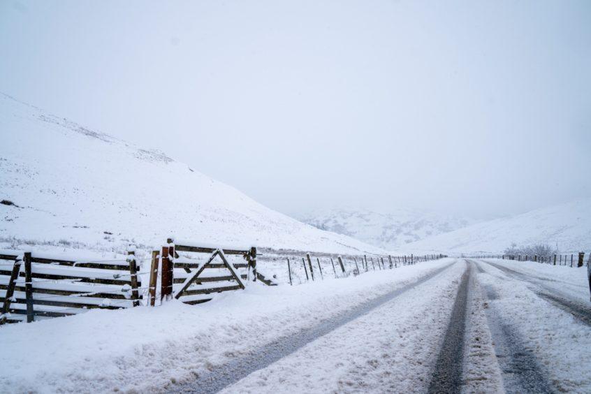 Perthshire snow on Thursday.