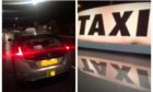 A taxi was vandalised by a passenger on Sunday morning