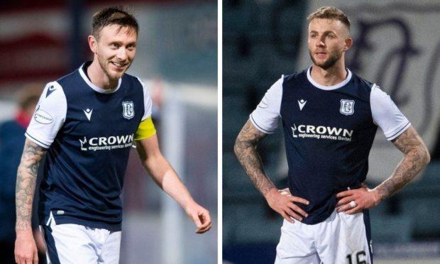 Dundee defenders Jordan McGhee and Christie Elliott.
