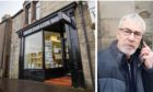 Richard Allcoat outside Perth Sheriff Court/Kinross Stamp & Coin Shop.