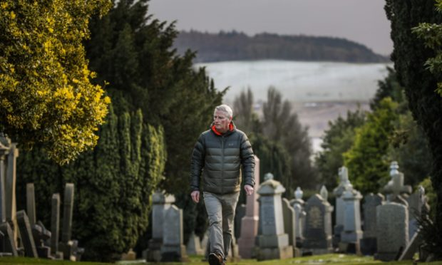 Councillor Craig Duncan at Eastern Cemetery, Dundee
