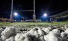Freezing Scotstoun as the 1872 Cup match was postponed a second time.