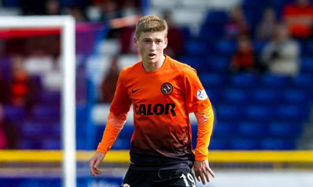 Ryan Gauld in action for Dundee United in 2014.