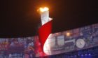 The Olympic flame being lit at the Beijing Games in 2008.