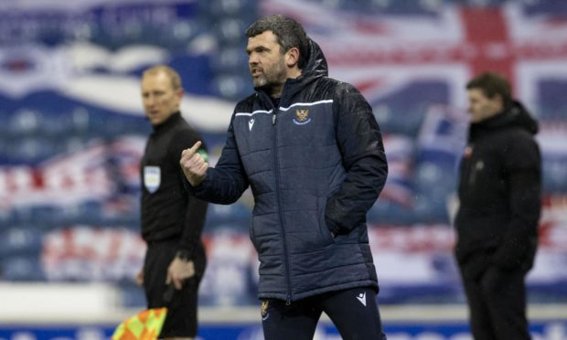 St Johnstone manager Callum Davidson was pleased with his sides display at Ibrox.