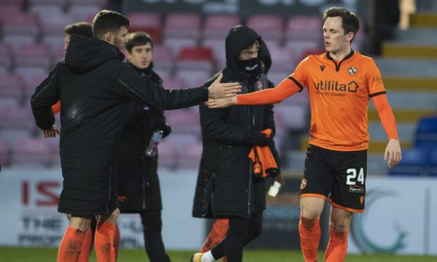 Dundee United striker Lawrence Shankland (right) believes the Terrors have their confidence back.