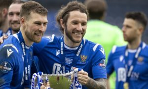 St Johnstone duo David Wotherspoon and Stevie May.