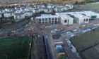 Construction of the new Madras College building in St Andrews has faced challenges caused by the Covid-19 pandemic.