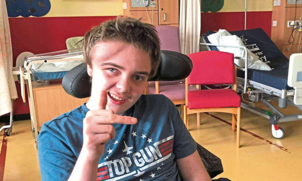 Kieran Lamond is recovering in Ninewells Hospital.
