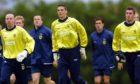 (L-R) Derek Soutar, Craig Gordon and Allan McGregor in Scotland U-21 training in 2002.
