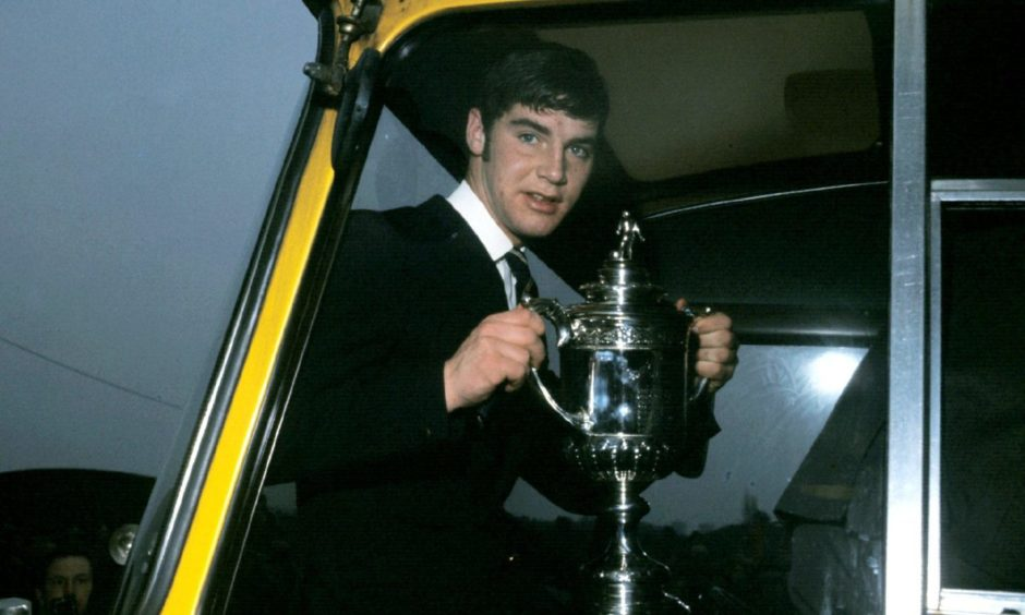 The mercurial Martin Buchan with the Scottish Cup in 1970.