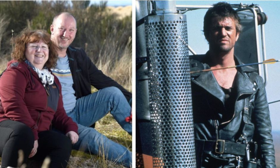Joy and Andy Snelling's adventure wouldn't have looked out of place in a scene from Mad Max.