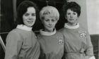 Three control girls at Skyline Bowling alley, Dundee.  From left, Sandra Scott, Ann Nicoll and Mary McCormack.