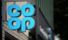 A Co-op shop sign.
