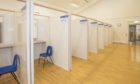 The inside of the Cowdenbeath testing centre.