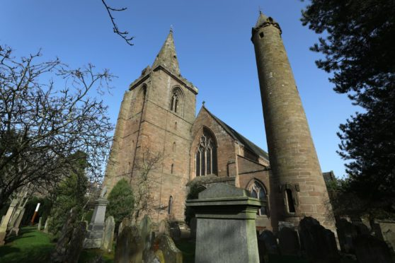 Brechin Cathedral is popular with tourists