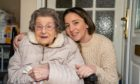 Doreen Tilly at home with great-granddaughter Sonia Dixon.
