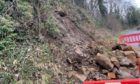 Severe weather has caused a landslip causing the closure of the main road to Dura Den.
