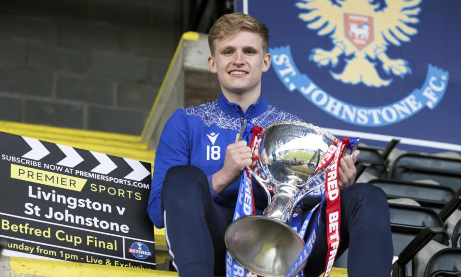 St Johnstone's Ali McCann pictured ahead of the Betfred Cup final against Livingston at Hampden Park which is live on Premier Sports.