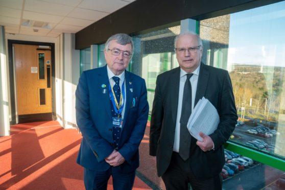 Joint Fife Council leaders David Alexander & David Ross.